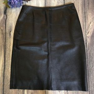 Vintage 90s Pelle Studio Wilsons Leather Skirt 14